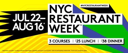 NYC Restaurant Week Summer 2013